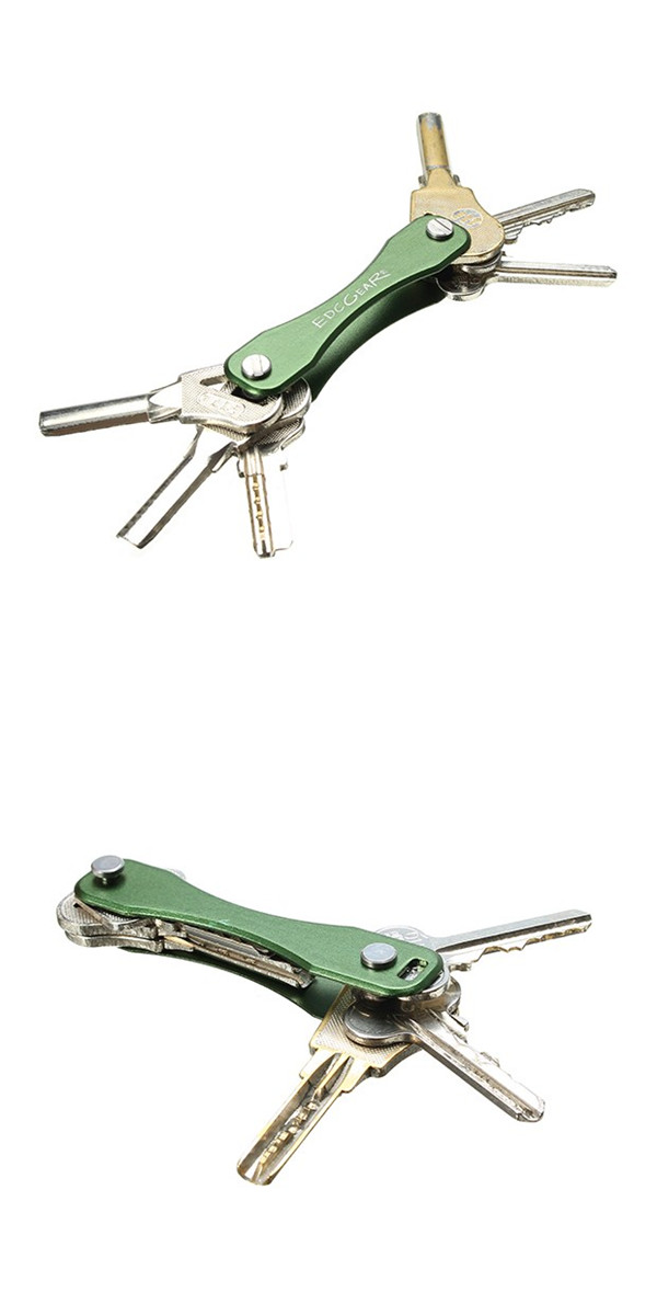 AOTDDOR® Aluminum Portable Key Clip Holder KeyChain EDC Tool - 5 Colors