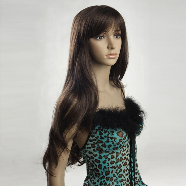 NAWOMI Dark Brown Women Long Hair Wig W3281
