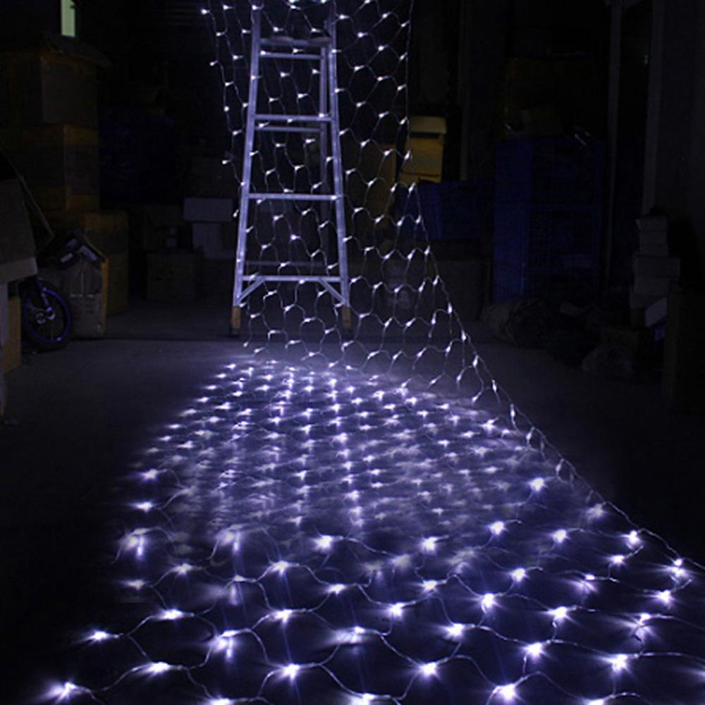 LED Net Light 1.5M x 1.5M 100 LEDs Christmas Fairy String Light US Plug 110V