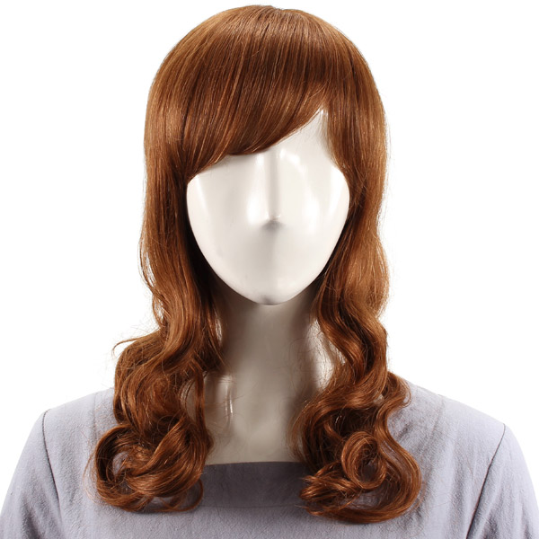 Human Hair Wig Side Bang Curly Virgin Remy Mono Top Capless