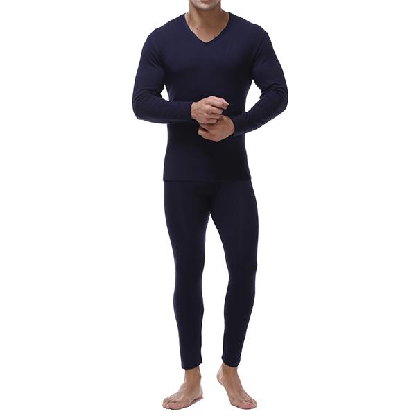 Mens Basis Bottoming Long Johns Thermal Underwear Sets Plus Size M-4XL