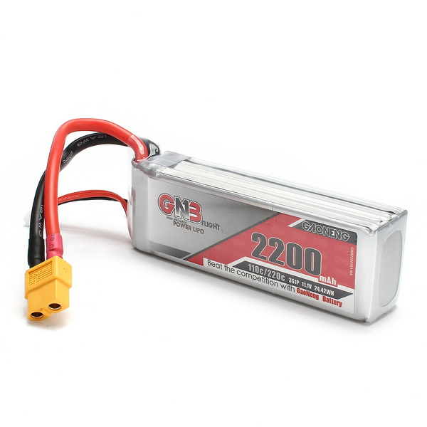 GAONENG GNB 11.1V 2200mAh 3S 110/220C Lipo Battery for RC Model