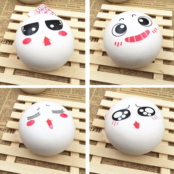 10cm Squishy Bun Toy Random Cute Kawaii Emoji Phone Bag Strap Pendant Slow Rising