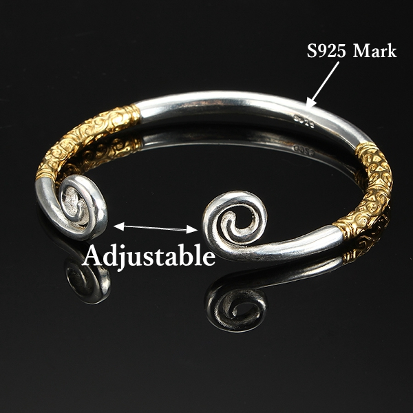 Silver Plated Adjustable Jingubang Wristband Monkey King Bracelet Lover Couple Bracelet
