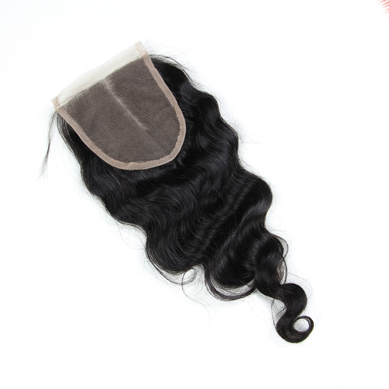 6A Loose Wavy Virgin Hair Lace Closure Brazilian Human Hair Closures 4x4 Free Middle Part