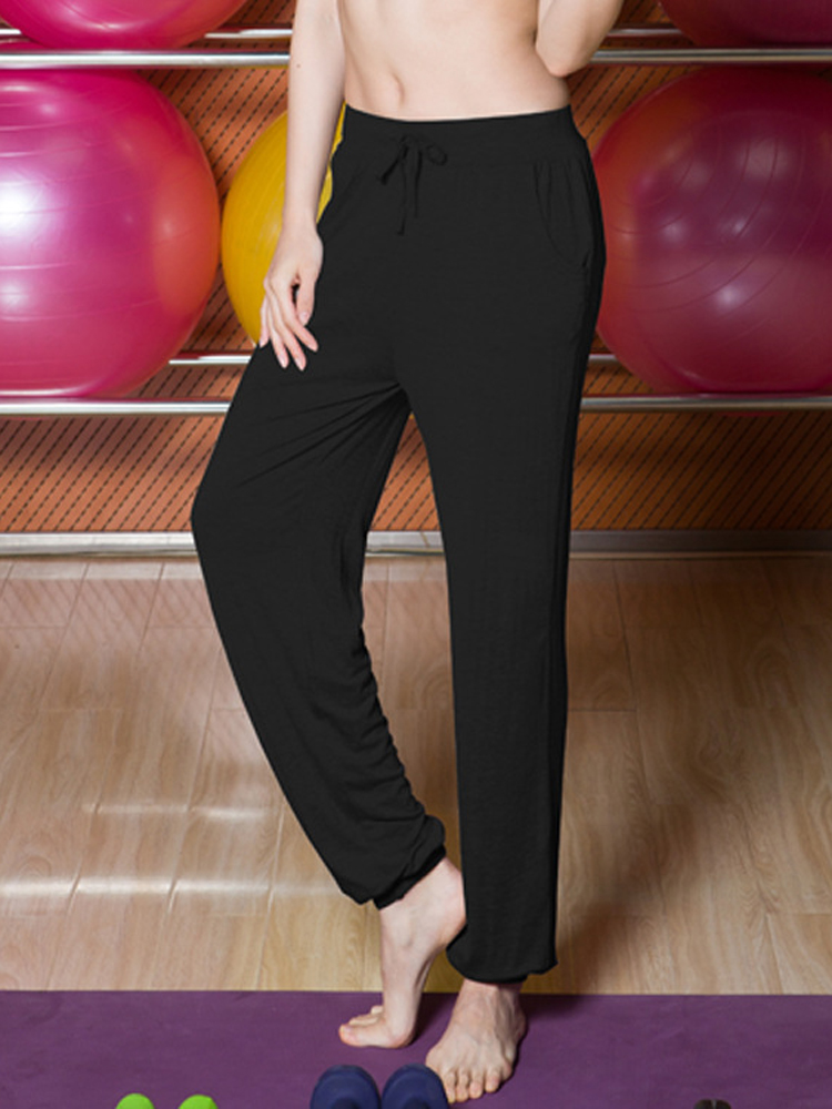 Women Plus Size Comfy Elastic Modal Sweatpants Soft Knickers Jogger Yoga Sport Long Pants