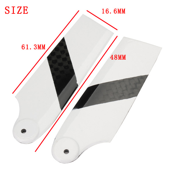 Tarot 450 PRO RC Helicopter Part Carbon Fiber Tail Blade TL2330-02