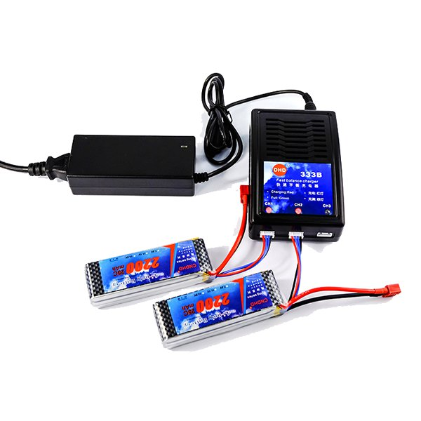 DHD 333B 60W 2A DC Fast Balance Charger for 3S Lipo Bat