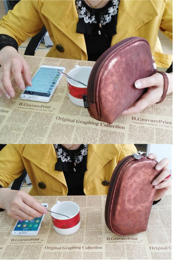 Women PU Zipper Cosmetic Bags Girls Small Coin Bags 5.5 Inches Phone Bags For Iphone Huawei Samsung