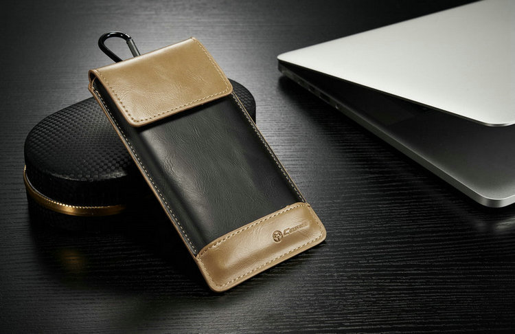 CaseMe Camping Bag Retro PU Leather Wallet Case With Carabiner Hook For Apple iPhone 4 4s 5 5s 5c