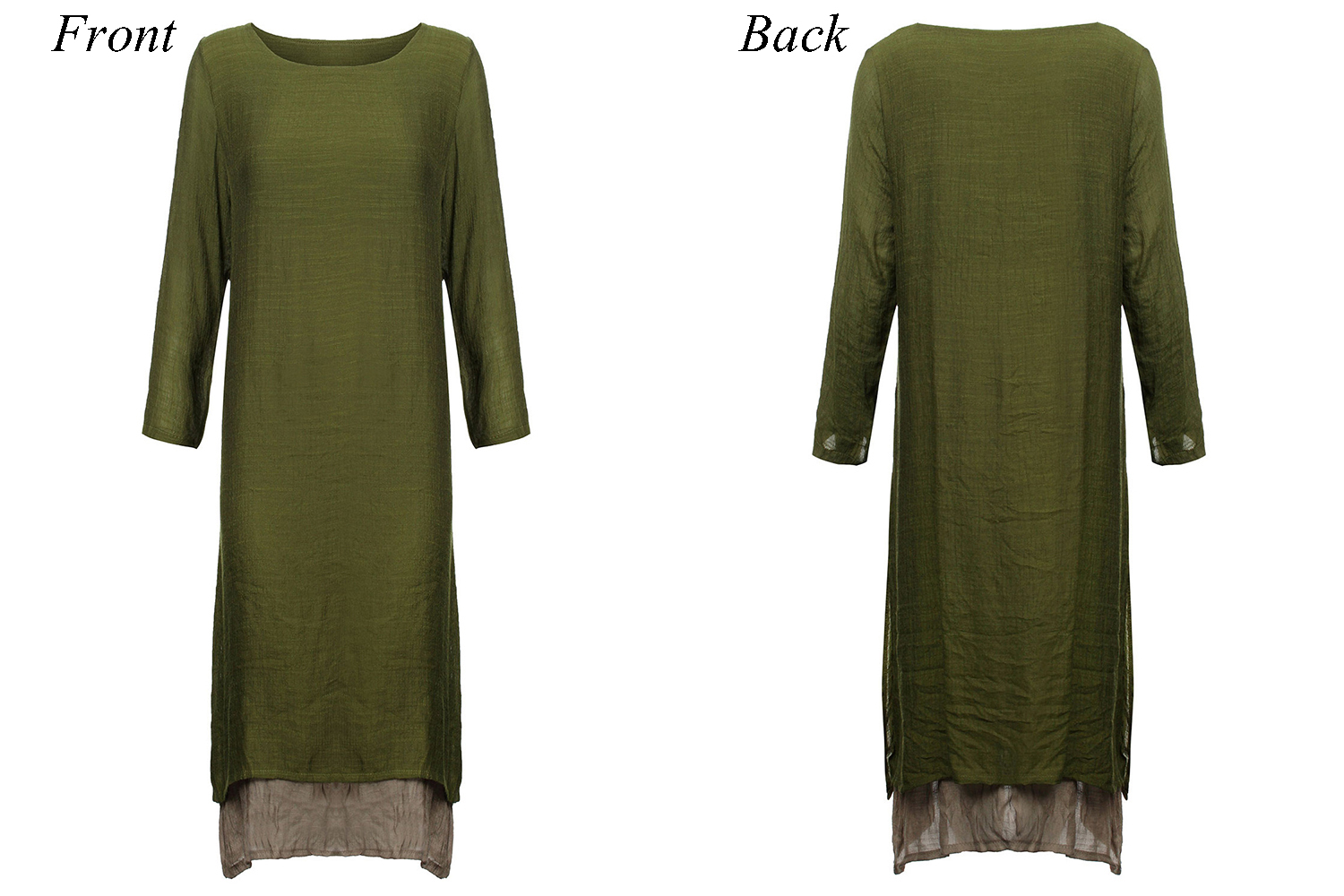 Elegant Women False Two-piece Boho Loose Maxi Dress