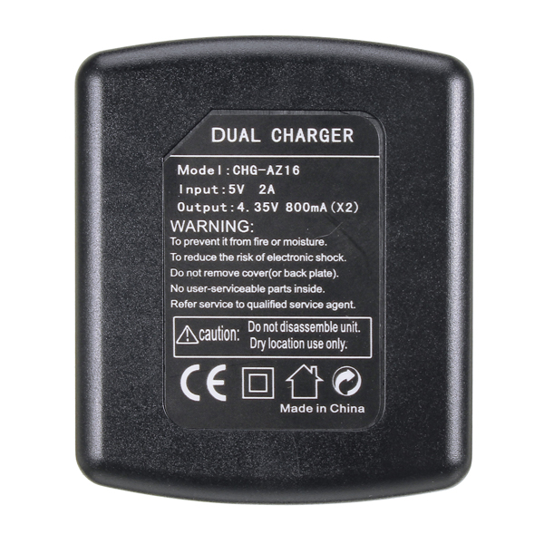 1400mAh Rechargeable Battery and Charger for Xiaomi Yi 4K 2 II Action Camera
