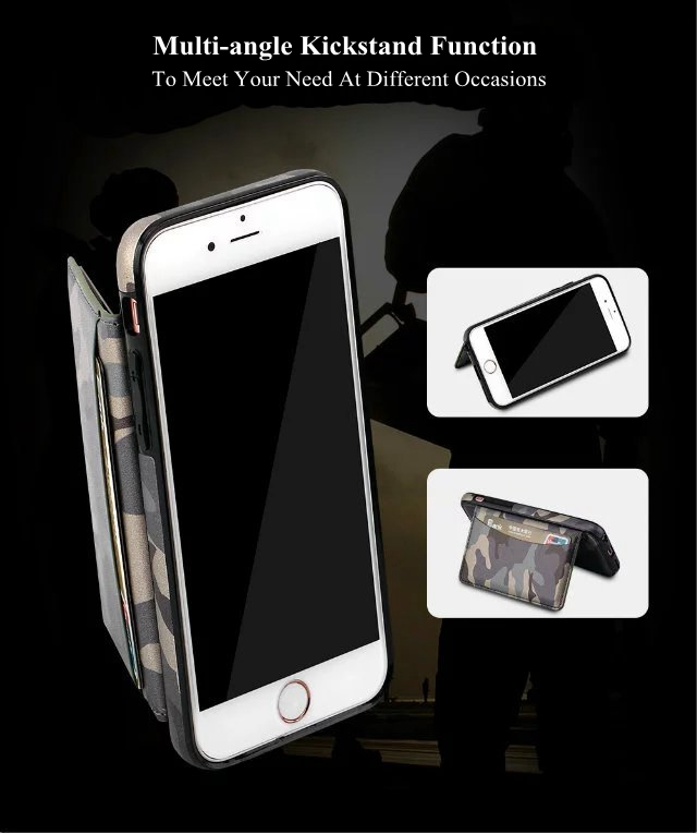 TPU Shockproof Kickstand Card Slot Case For iPhone 6 6s