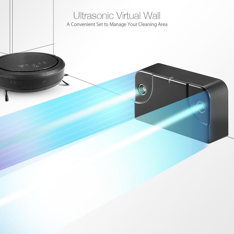 BlitzWolf® BW-XRC600 Ultrasonic Smart Robot Vacuum Cleaner with 1200pa 3350mAH UV APP Wifi Control