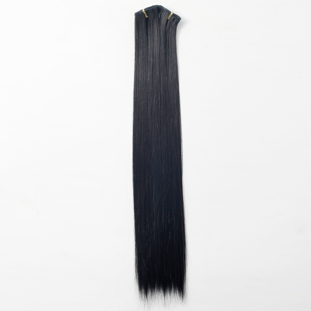 7Pcs NAWOMI Heat Resistant Friendly Clip In Synthetic Fiber Hair Extension 17.72 Inch Dark Brown