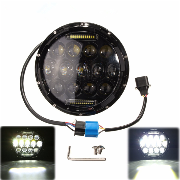 7 Inch 10-24V LED H4 Headlight Hi/Lo for Jeep Wrangler