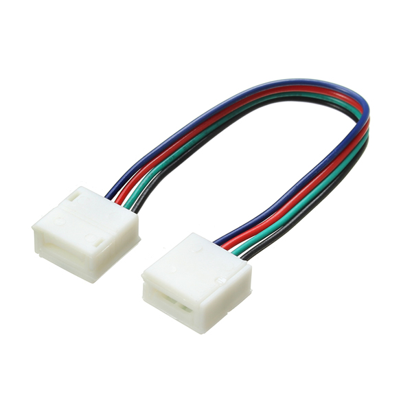 10mm Width 4 Pin Solderless Connectors Extension Cable Wire for RGB LED Strip