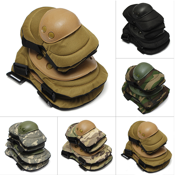 4 Pcs Tactical Sports Knee Elbow Protective Pads