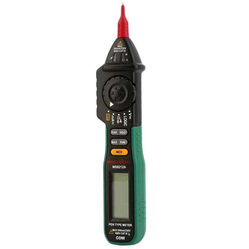 Mastech MS8212A Non Contact Pen Type Digital Multi Meters DC AC Voltage Current Tester