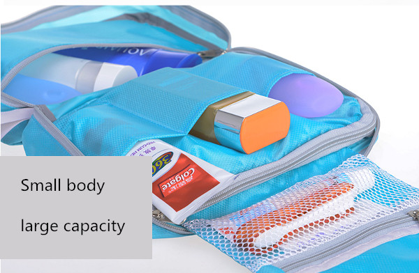 Travel Zipper Toiletry Storage Bags Portable Organizer Case Waterproof Cosmetic Bags