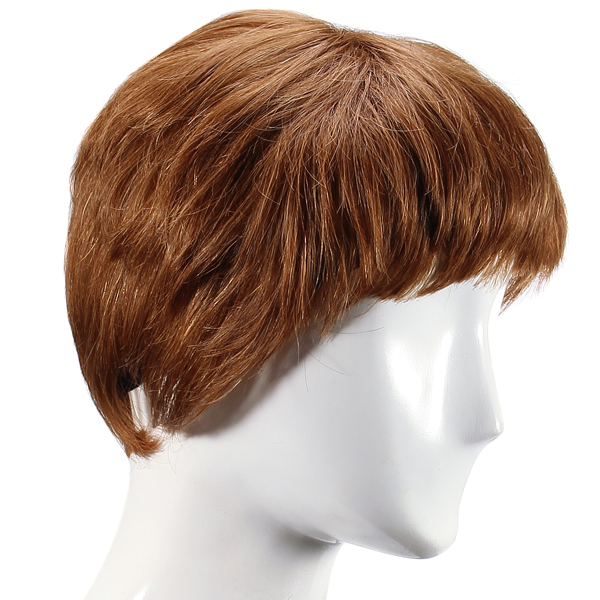 Elegant Short Human Hair Wig Virgin Remy Mono Top Capless Trendy Wigs