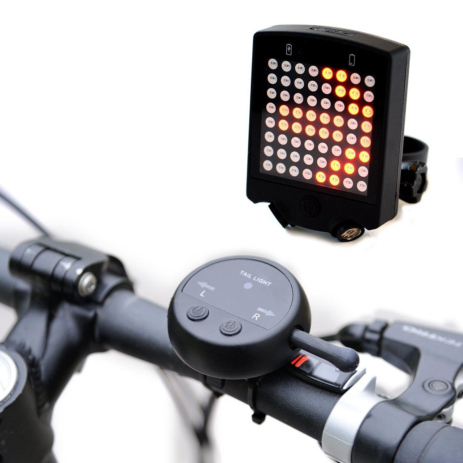 64 LED Wireless Remote Laser Bicycle Rear Tail Light Bi