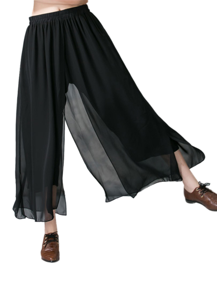 Casual Women Chiffon Wide Leg Pants