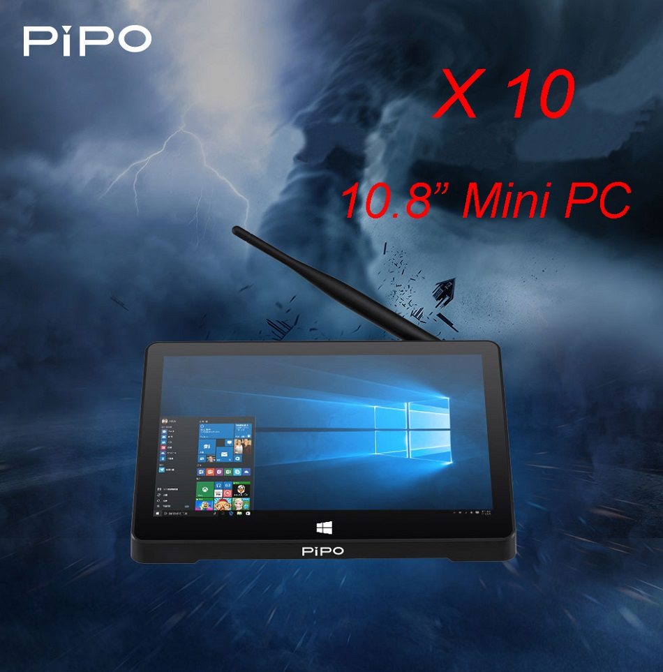 Original Box PIPO X10 Pro 64GB Intel Z8350 Quad Core 10.8 Inch Dual OS TV Box Tablet
