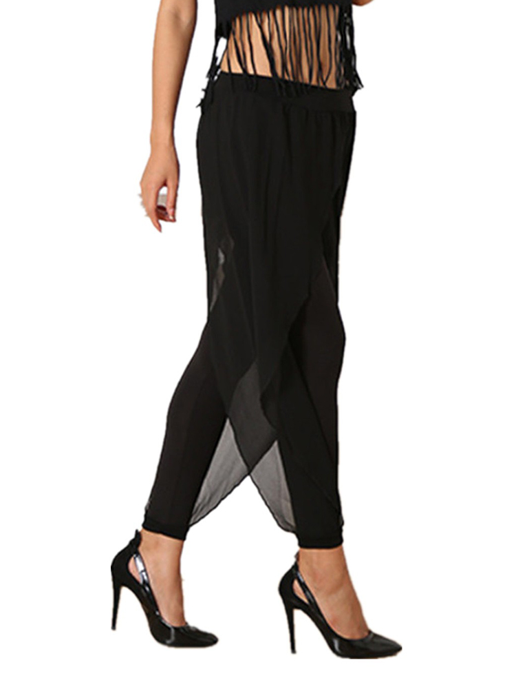 Women Baggy Chiffon Party Harem Pants