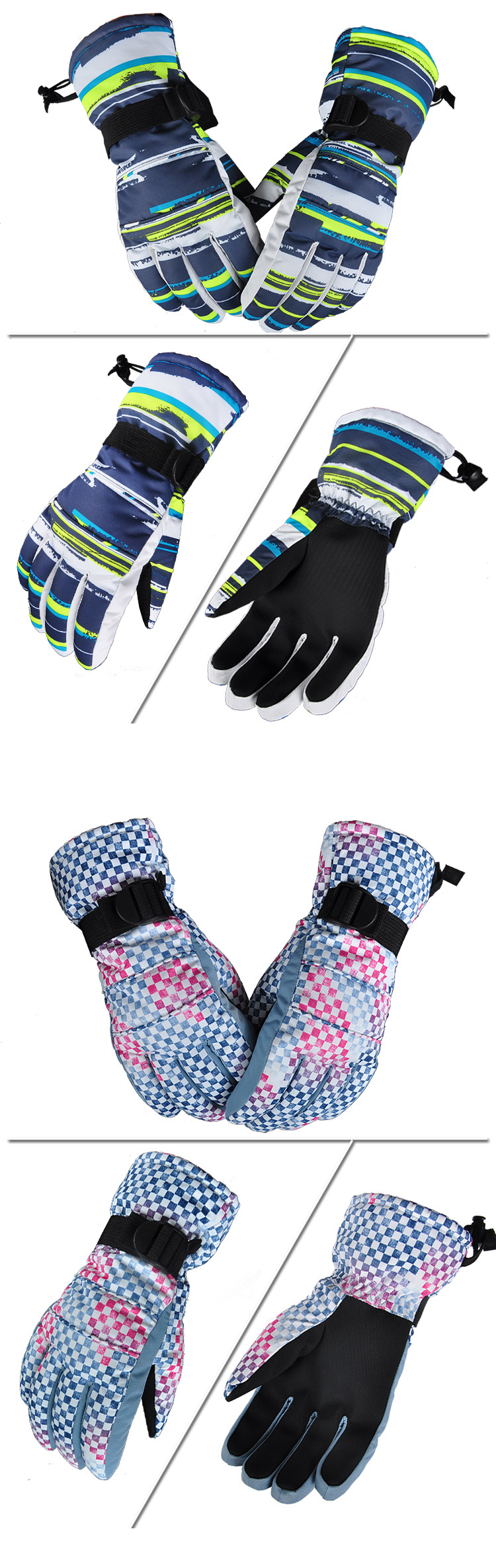 Professional Windproof Water Repellent Ski Glove Cold Resistance -30° Winter Riding Warm Gloves