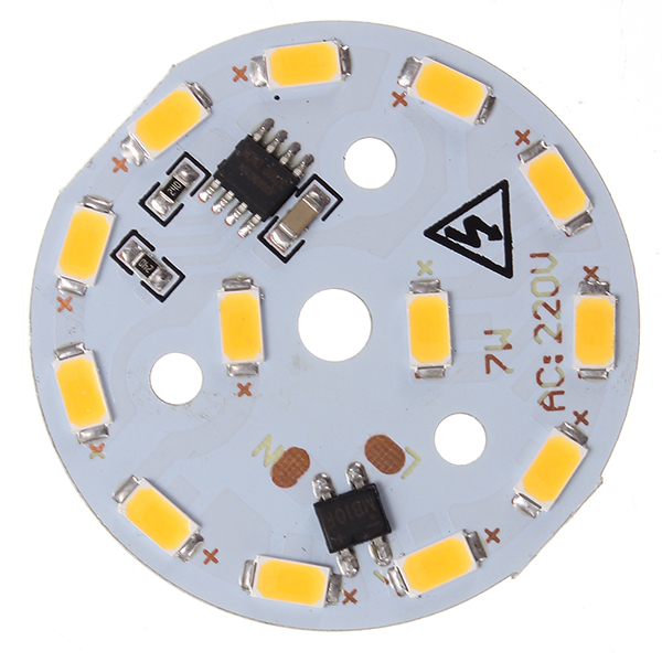 Dimmable AC220V 7W 44mm LED SMD 5730 Aluminum Plate Light Panel Bead Chip