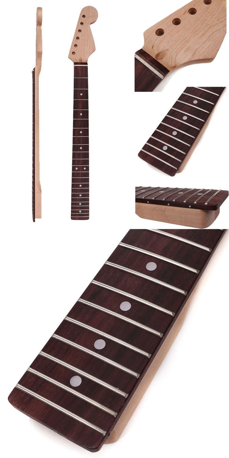 Electric Guitar Neck Finger Board Maple Wood 23 Fret For JB Parts Replacement
