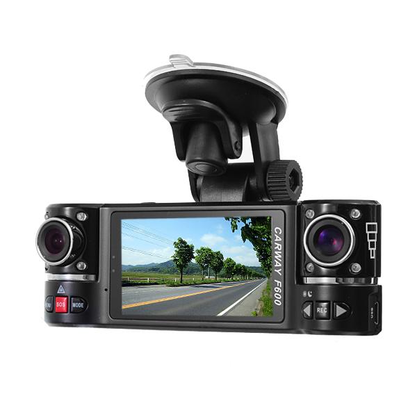 1280x480 Dual Lens Driving F600 Recorder Car Camera Dvr Video