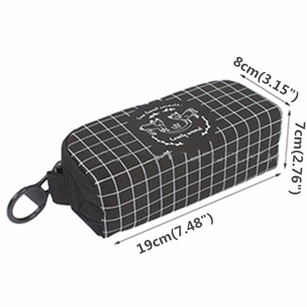 Students Canvas Durable Pencil Case Casual Big Zipper Pen Pouch Storage Bag