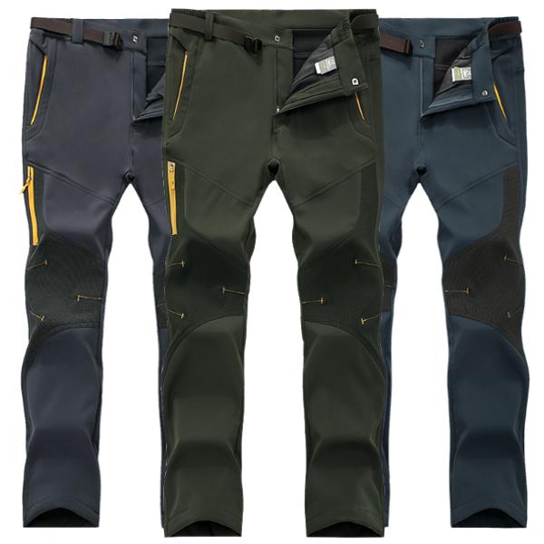 Плюс размер S-5XL Мужские Открытый зимние Брюки флисовые Толстые Поднимаясь Теплые спортивные штаны
