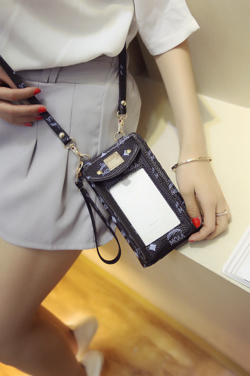 Women's PU Touch Screen Crossbody Phone Wallet Bag Shoulder Bag Phone Case Cover For iPhone Samsung Xiaomi