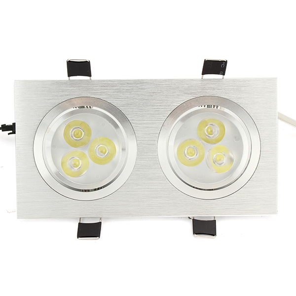 6W/10W/14W/18W/24W/30W/36W Double-heads Sliver LED Ceiling Recessed Light Down Light 85-260V
