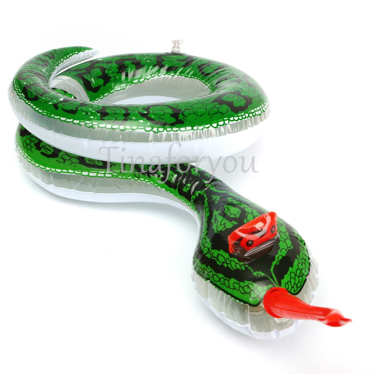 Realistic Inflatable Snake Toy Hawaiian Jungle Fancy Dress Party Yard Pool Decor
