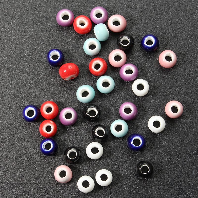 5Pcs 6mm Ceramic DIY Pure Loose Beads Multicolor Beads Accessories