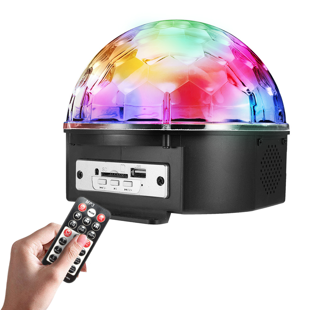 9 Color LED Voice Control With Remote Control MP3 Crystal Ball Flash Lights Stage Sprinkle Lights