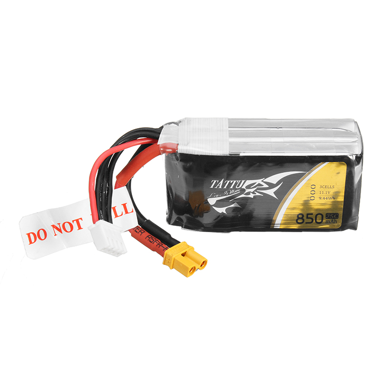 ACE TATTU 11.1V 850mAh 75C 9.44Wh 3S 1P Lipo Battery XT30 Plug