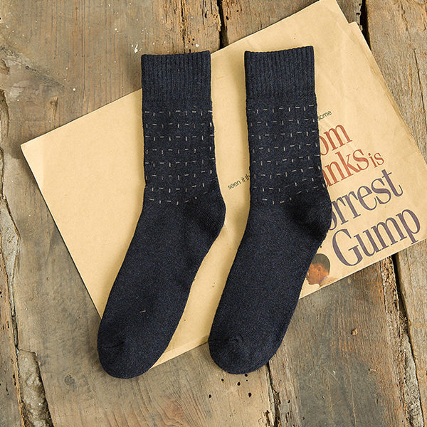 Men's 5 Color Thick Casual Solid Color Dots Terry Socks Pile Loop Fashion Business Socks