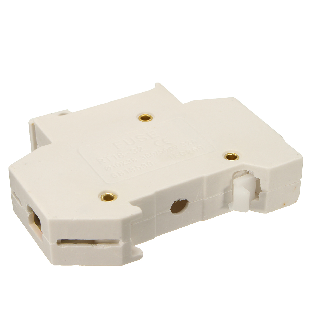 RT18-32X AC 380V 32A 1 Pole 10x38mm DIN Rail Mount Fuses Holder Base with LED Indicator
