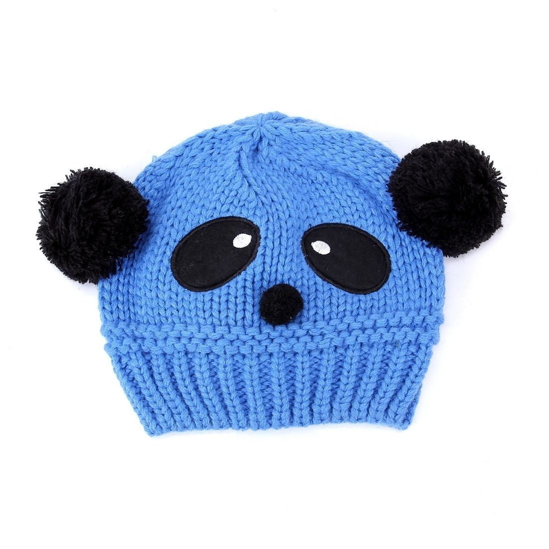 New Cute Baby Boys Girls Kid Panda Soft Knit Crochet Hat Winter Warm Beanie