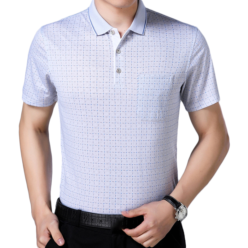 Men's Summer Cool Ice Ribbon Collar Golf Shirt