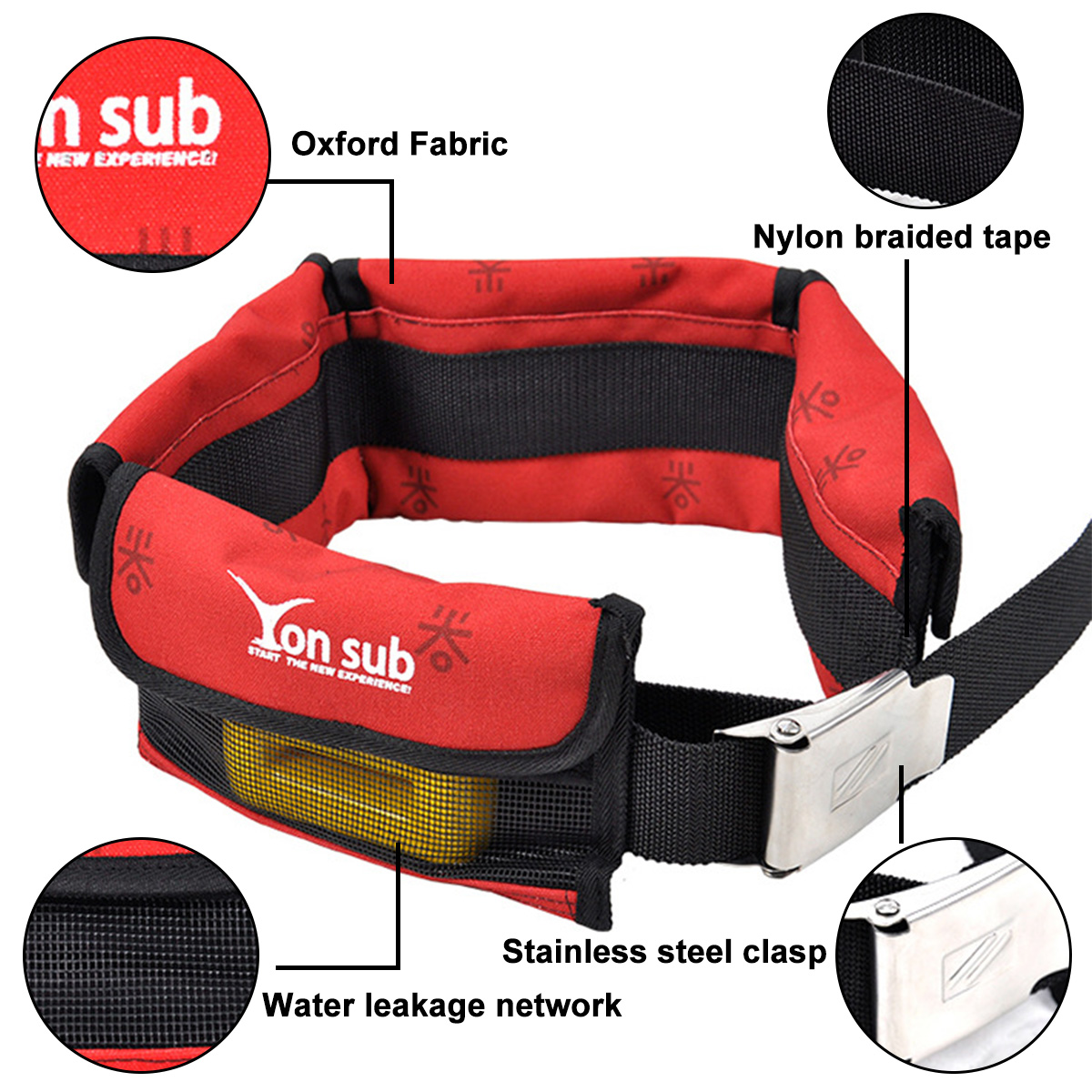 diving set Adjustable 4/3 Pocket Diving Weight Belt With Stainless Steel Buckle Water Sport Equipment For Underwater Hunting 4 Colors