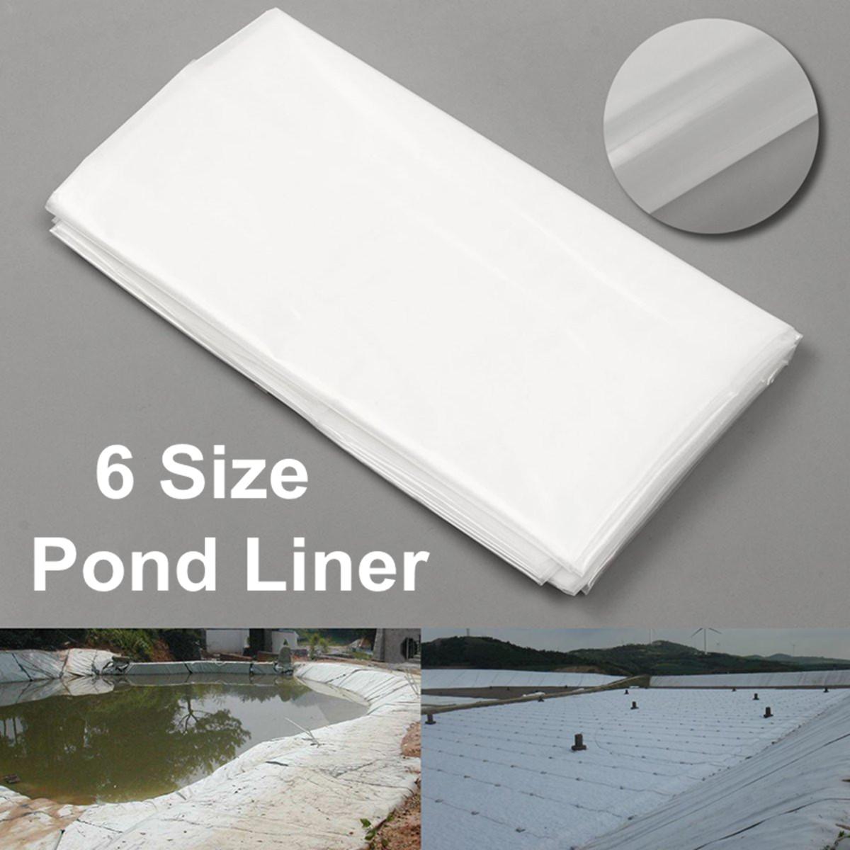 2m×2/3/4/5/6/7m White Fish Pond Liner Fishing Tool Garden Pool HDPE Membrane Reinforced Landscaping