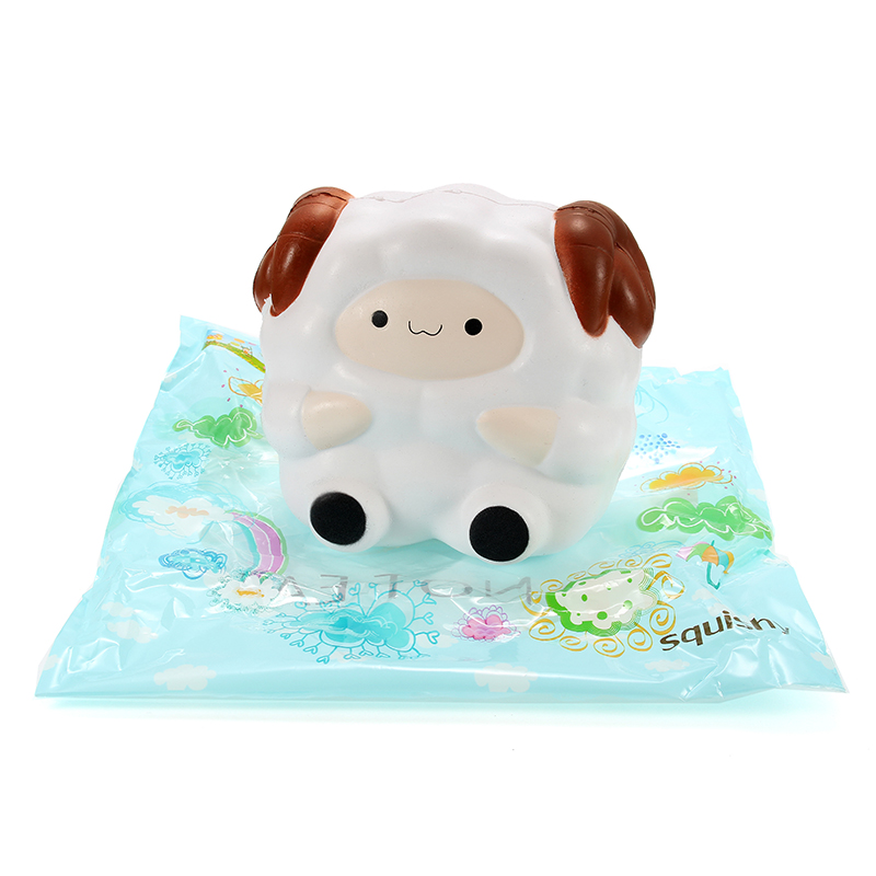 Squishy Jumbo Sheep 13cm Slow Rising With Packaging Collection Gift Decor Soft Squeeze Toy