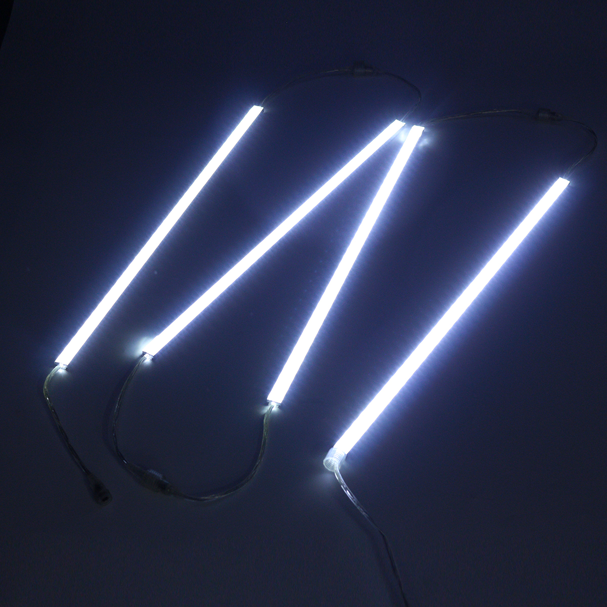 4x50cm Waterproof Cool White SMD5630 LED Rigid Strip Light for Camping Caravan Boat with Clips DC12V