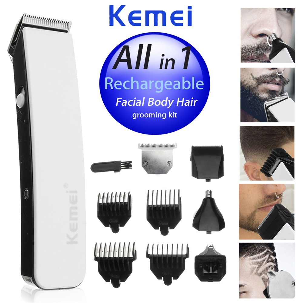 KEMEI 5 In 1 Electric Hair Clipper Nose Hair Trimmer Shaver